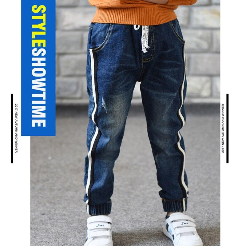 Image 2 - Джинсы для мальчиков ограниченной Свободные Однотонная повседневная обувь на осень джинсы для мальчиков детские модные джинсы, для От 3 до 5 лет От 6 до 14 лет-in Джинсы from Мать и ребенок