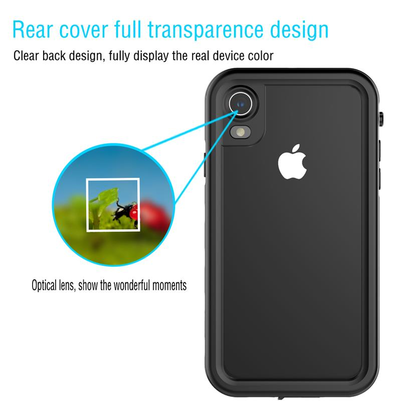 Waterproof phone cases for For iPhone Xs Max Xr Dustproof Case 360 Degree Protection Shockproof phone cover for iPhone Xr Xs Max in Fitted Cases from Cellphones Telecommunications