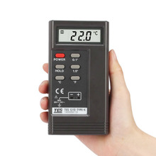 TES 1310 Digital Thermometer Type-K Thermocouple Temperature Tester Reader Sensor Meter + Thermocouple Probe detector bosch tes 60729 rw