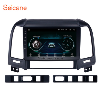 Seicane 2 din Android 10.0 DVD Player Bluetooth GPS Navigation Radio for 2005-2010 2011 2012 HYUNDAI SANTA FE with WIFI 1024*600 image