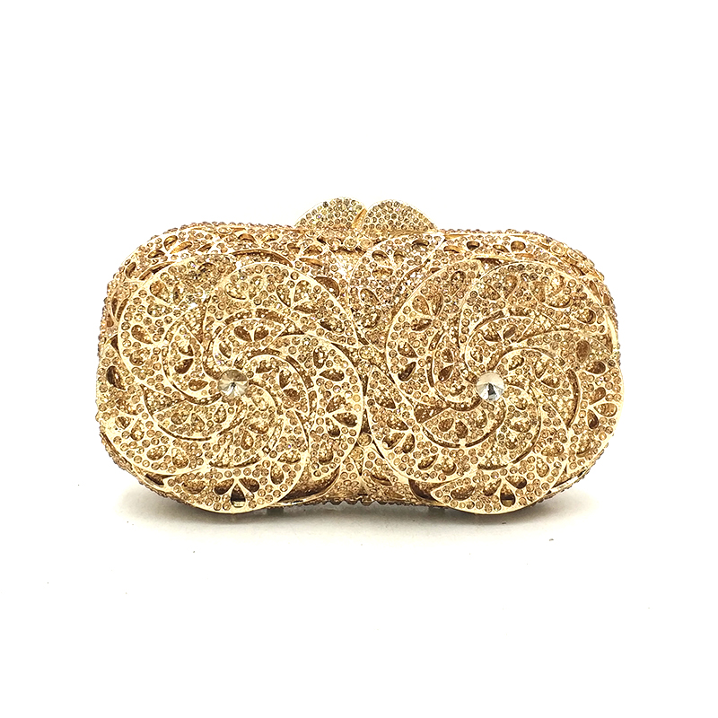 Luxury women evening party bag bridal wedding diamonds bag accessories Nigeria wallet clutches bag simple crystal bag purse-in Top-Handle Bags from Luggage & Bags    1