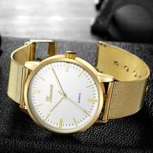 GENEVA Slim Women Watch Mesh Band Stainless Steel Analog Quartz Wristwatch  Luxury Minimalist Lady Unisex Silver a796641bec4