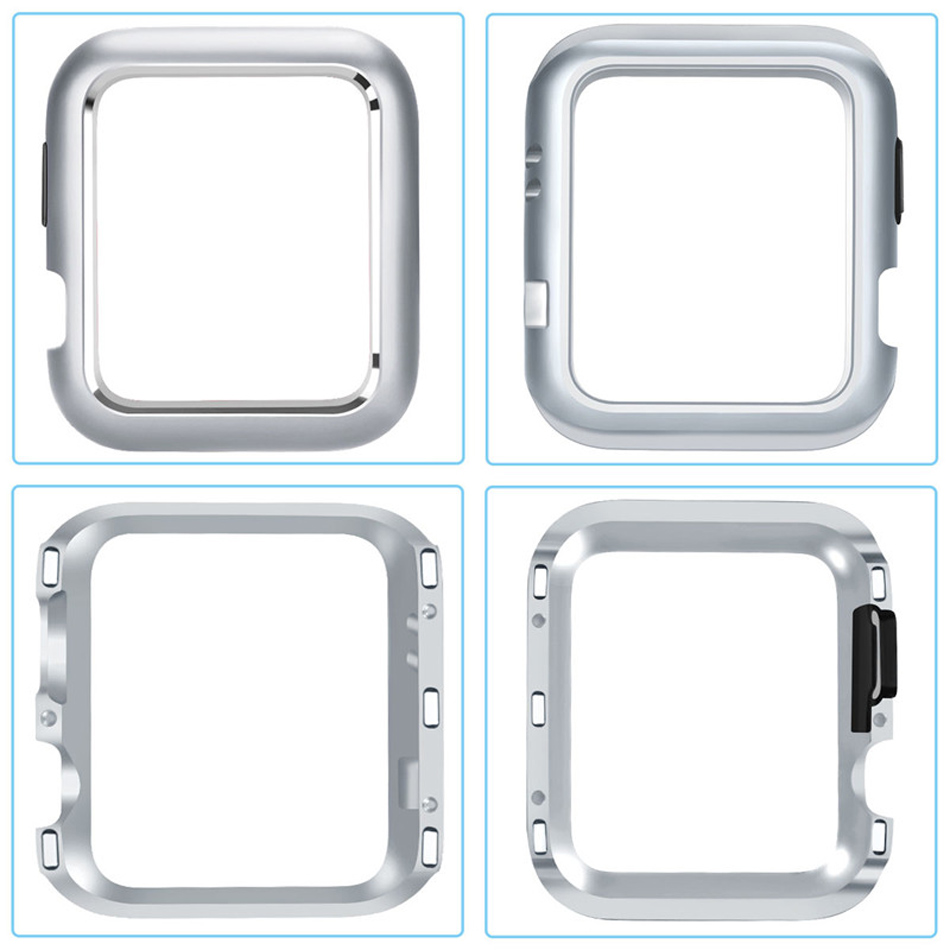 For Apple Watch Serie 4 40mm 44mm Smart Watch Cover Case Magnetic Adsorption Metal Frame Protector Cover Case Wearable Accessory