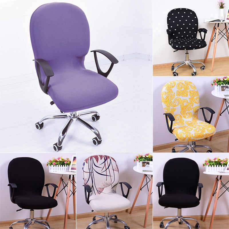 Поворотный Чехол для стула растягивающийся съемный компьютерный офисный моющийся вращающийся подъемник WXV продажа