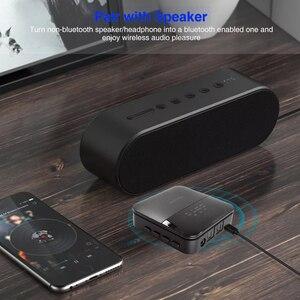 Image 3 - 2 em 1 sem fio bluetooth 5.0 música áudio transmissor receptor mini 3.5mm aux aptx hd baixa latência óptica auto no adaptador para tv