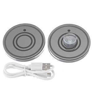 Image 4 - 7 Colors Universal Car Cup Holder Bottom Mat Water Drinking Holder Organizer Pad USB LED Sensor Atmosphere Lights Cover Lamp