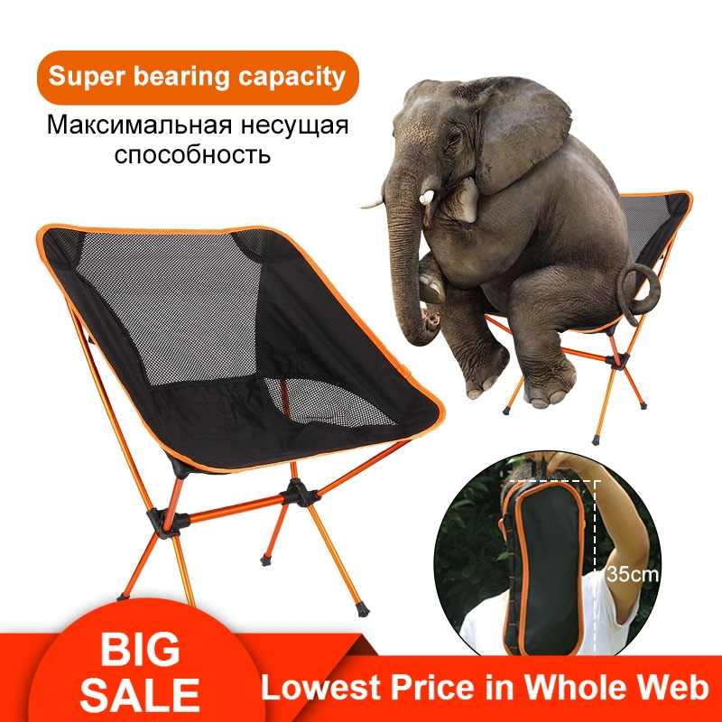 Chair-Seat Fishing-Chair Folding Picnic Outdoor 600D Aluminium Portable Camping for BBQ