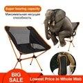 Portátil plegable de pesca Silla de Camping silla 600D de la tela de Oxford de pesca de aluminio silla para Picnic al aire libre barbacoa Silla de playa