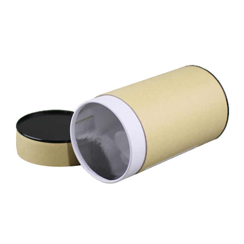 Xin Jia Yi di Imballaggio Tubo di Carta Disegnare Immagine Scorrevole Kraft Scatola di Carta Logo In Rilievo di Nuovo Disegno Elastico Nastro di Carta Può