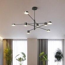 Moderno led lustre de teto montado conduziu a iluminação do candelabro para sala estar sala jantar quarto decoração luminária