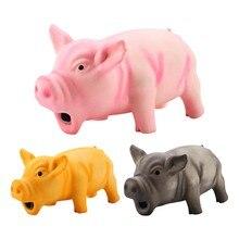 Brinquedos engraçados do doy brinquedo bonito porco grunhindo brinquedo do látex brinquedo do cão mastigar brinquedos do animal de estimação
