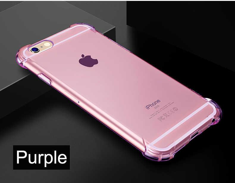 Противоударный Ударопрочный силиконовый чехол для iPhone 8, 8 Plus iPhone X iPhone XR XS Max пластыри на гелевой основе чехол для сотового телефона 360 цветов