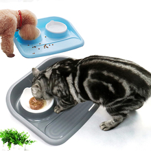new pet double bowl Feeders For Cats Drinking Bowls Pet Feeding Bowl Dog Water Tray Food Basin
