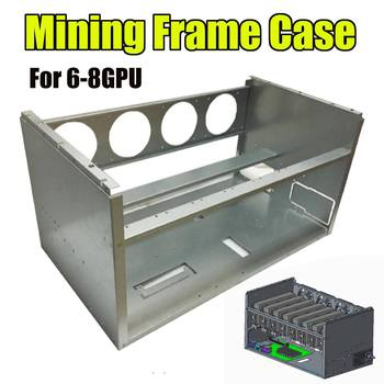 DIY 63cm*36cm*33cm For 4 Fans 6-8 GPU Crypto-currency Stackable Open Air Mining Rig Frame Miner Case ETC BTH Steel