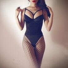 цены на Sexy Plunge Push Up Bra Bodysuit Body Shaper Hot Lingerie Teddy Women Shapewear Thong Bodysuit Underwear Corset  в интернет-магазинах