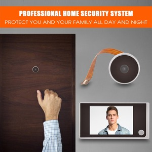 Image 2 - Mini HD Outdoor Electronic Peephole Camera Viewer 3.5in Indoor LCD Color Screen Visual 120°