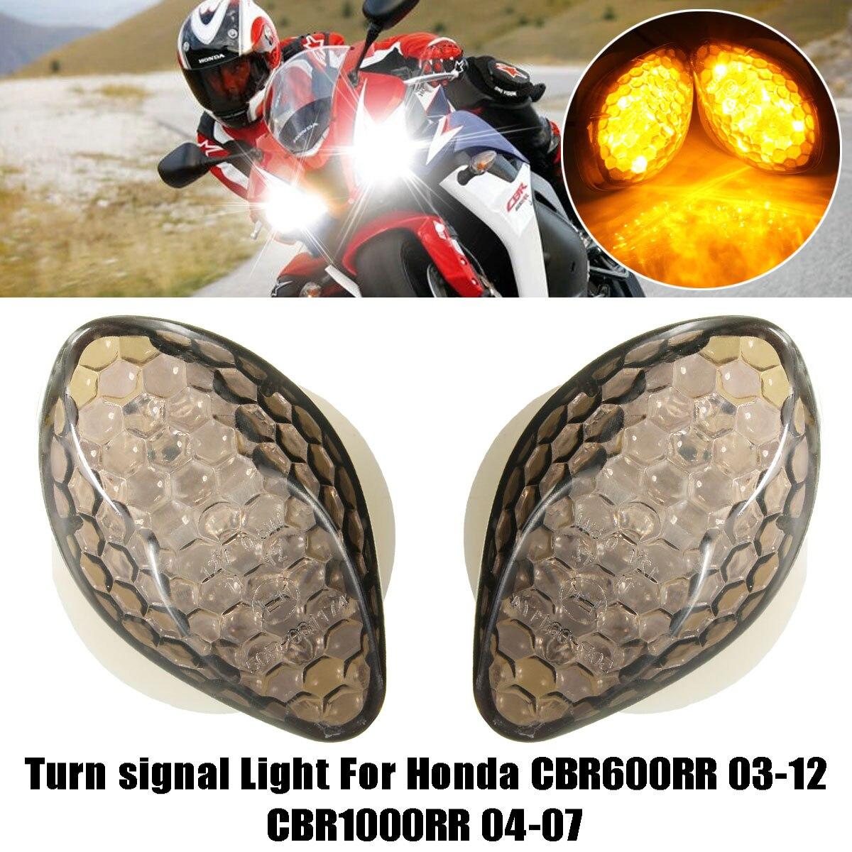 Car Led 12v 15 Led Motorcycle Turn Signal Light Bulb Blinker For Honda Cbr600rr 03  07 Turn Signal Light Smoke In Signal Lamp From