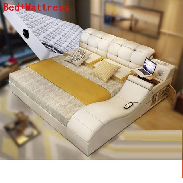 Per La Casa Set Letto Matrimoniale Bett Ranza Recamaras Modern Dormitorio Leather Mueble bedroom Furniture Moderna Cama Bed