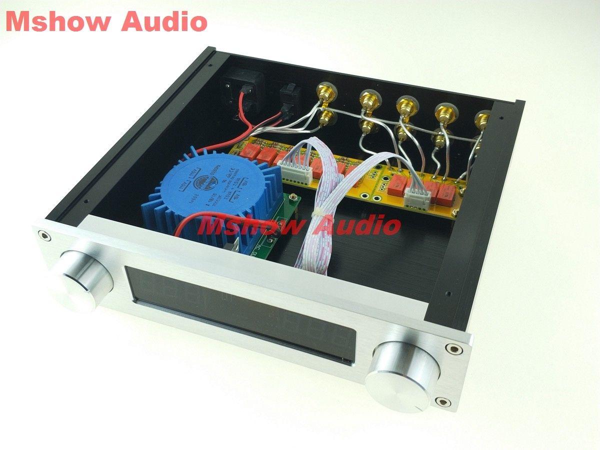 Talema とアップグレード電源音量リモコンリレー 128 ステップ定入力インピーダンス 4 CH  グループ上の 家電製品 からの アンプ の中 1