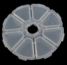 Jewelry Beads Container Statement jewelry Plastic Octagon translucent white 10.5x2.7cm, Sold By PC