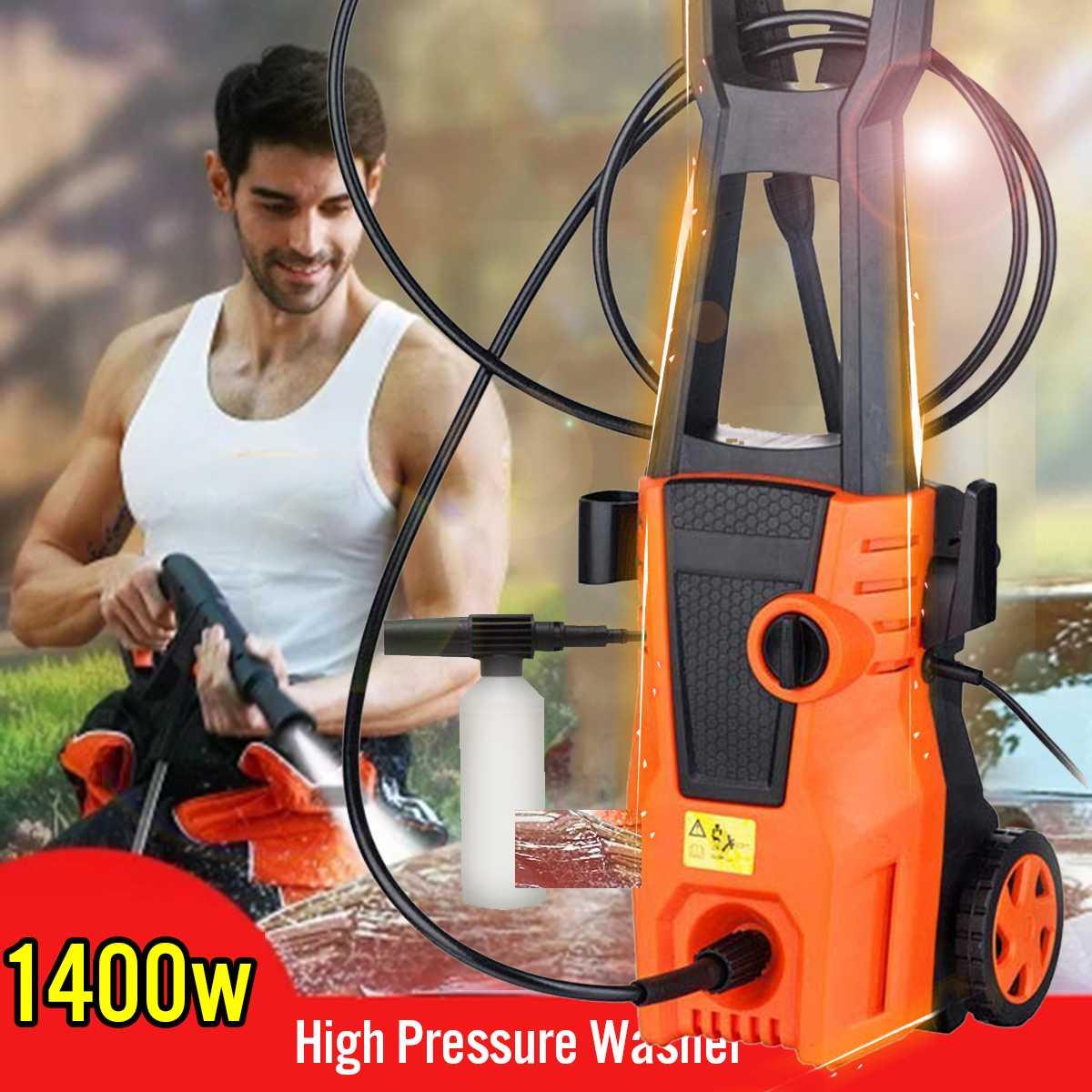 Limpador de alta Pressão máquina de Lavar Carro Auto Cuidado Turbo Mangueira de Água Pistola de Pulverização Garrafa Carro de Auto-Máquina de lavar roupa de Detergente 1400 w Novo