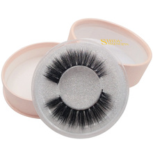 SHIDISHANGPIN 1 pair individual lashes 3d mink eyelashes hand made eyelash extension  volume makeup cross winged lash