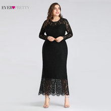 Lace Black mother of the Bride Dresses A-Line Long Sleeve O-Neck Mermaid Mother 2019 Elegant Women Wedding Party
