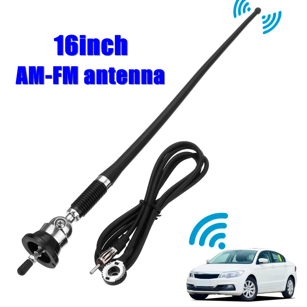 Car SUV Roof Fender Booster Antenna Extendable FM AM Radio Aerial Receiver