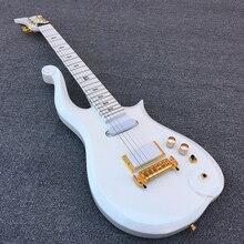 2018 новая электрогитара Prince Cloud, клен гриф с белым корпусом! 1 * humbucker 2 * одновитковые катушки, высокое качество, Бесплатная доставка!