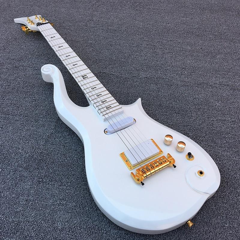 2018 Novo Príncipe Nuvem guitarra elétrica, guitarra Bordo fingerboard com corpo Branco! 1 * humbucker 2 * bobinas individuais, de Alta qualidade, frete grátis!