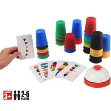 Family Classic Board Game 2-6 Players Speed Cups Stacking Game Card Funny Party Challenge Quick Cups Indoor Game For Child Gift speak out board game mouthguard ridiculous challenge game home family funny toy christmas birthday gift new in box