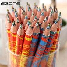 EZONE 1PC Rainbow Color Pencil For Children Kids Painting Graffiti DIY Scrapbook Six Pen School Art Supply Pastille