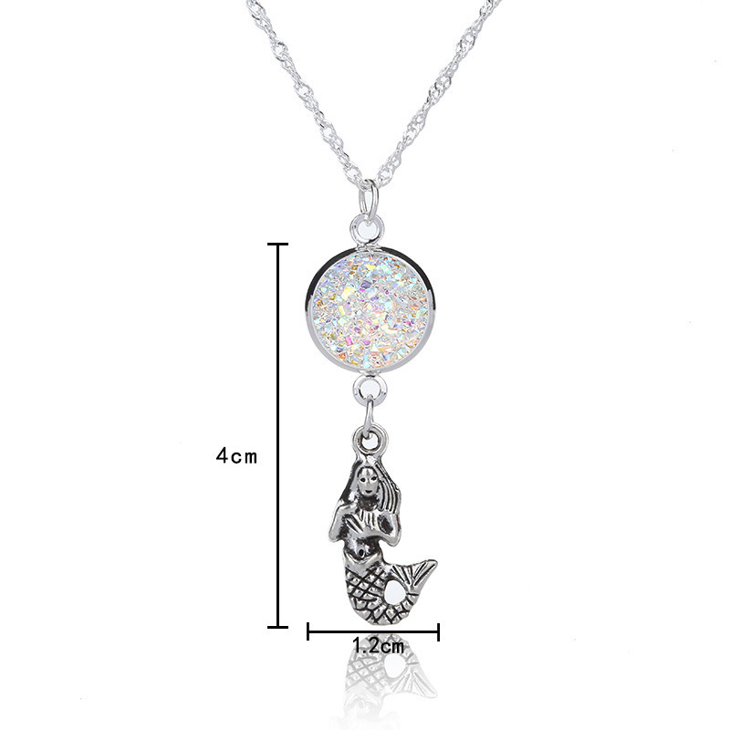 Originality New Pattern Fashion Polygrained Cluster Mermaid Necklace Accessories Ornaments Goods In Stock