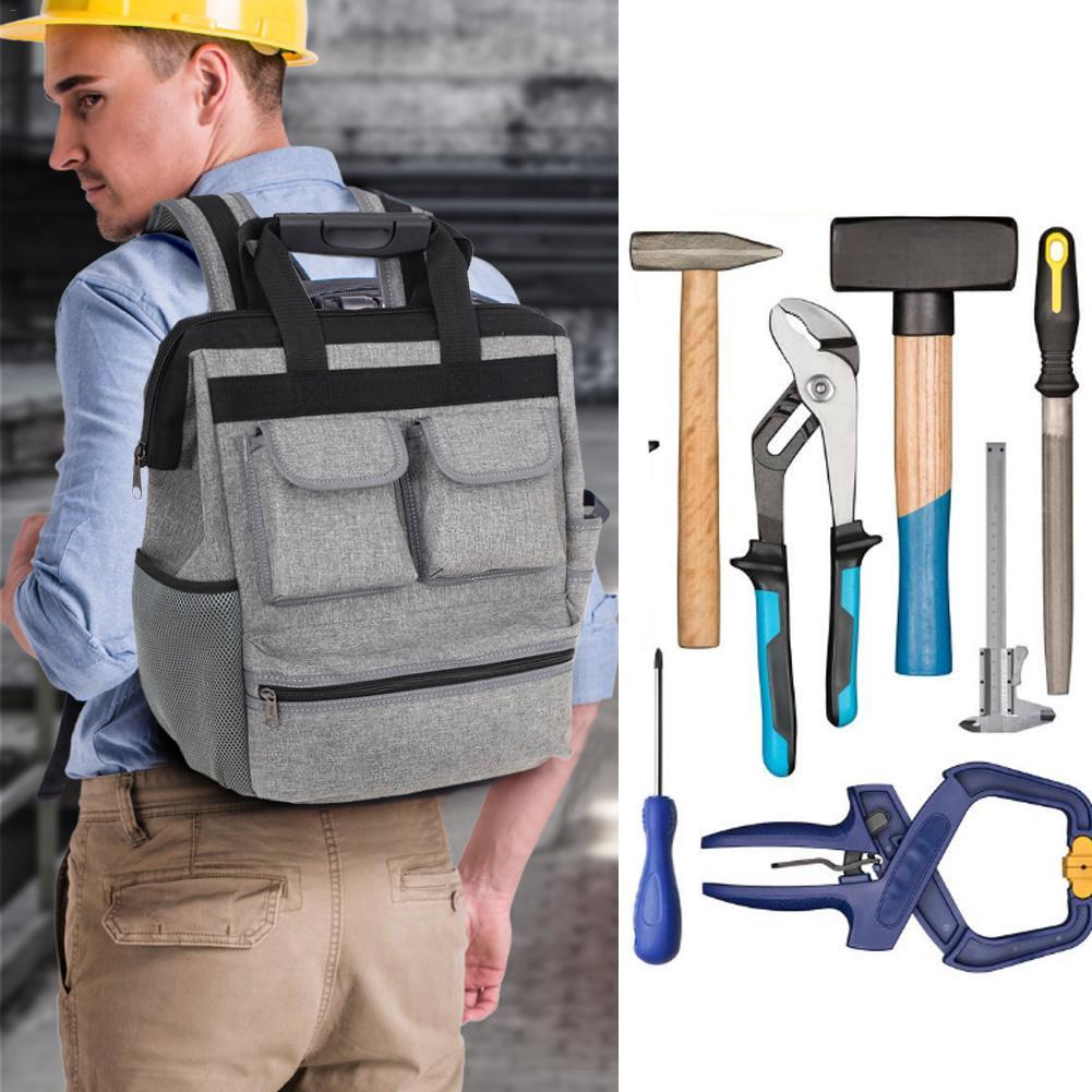 Oxford Multi-Function Shoulder Tool Bag Elevator Repair Backpack Hardware Kit Toosl Backpack Canvas Tools Bags