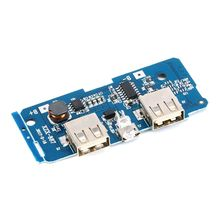 2 pcs Dual Micro-USB 3.7v to 5V 2A Mobile Power Bank DIY 18650 Lithium Battery Charger PCB Board Boost Step Up Module With Led