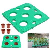1Set Floating Pond Plant Island Pot 4 Basket Water Garden For Terrestrial Plants Garden Fish Pond Landscapes