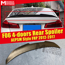 F06  Spoiler stem Wing AEPSM style FRP Primer black For BMW 4-doors 640iXD 640iGC 650iXD rear diffuser 2012-17