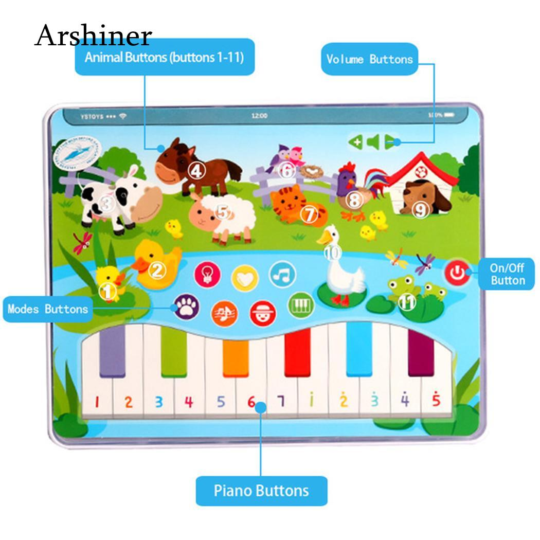 Unisex 3 Educational English picture old Toy Tablet Kids years Study Learning Modes As Battery 7 Machine