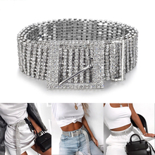 Silver Full Rhinestone Diamante Fashion Women Belt Sequins 2019 New Corset