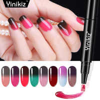 Yinikiz Thermische Ändern Nagel Gel Stift Lack Temperatur Gel Polish UV Thermo Chameleon Hybrid Lack Gel Polnisch