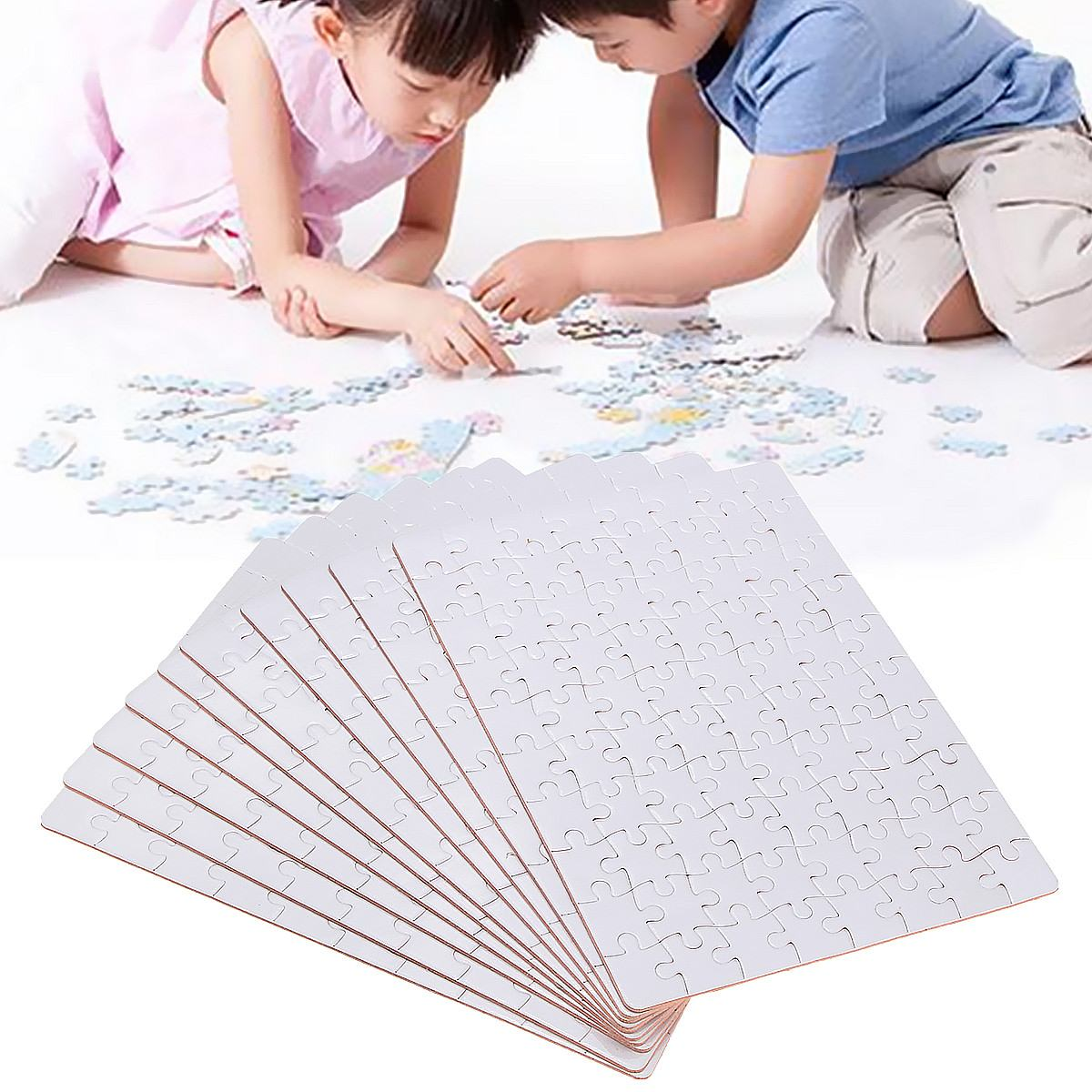 10x A5 For Heat Press Machine DIY Blank Dye Sublimation Printable Jigsaw Puzzle Unique Gift for Heat Press Transfer Paper