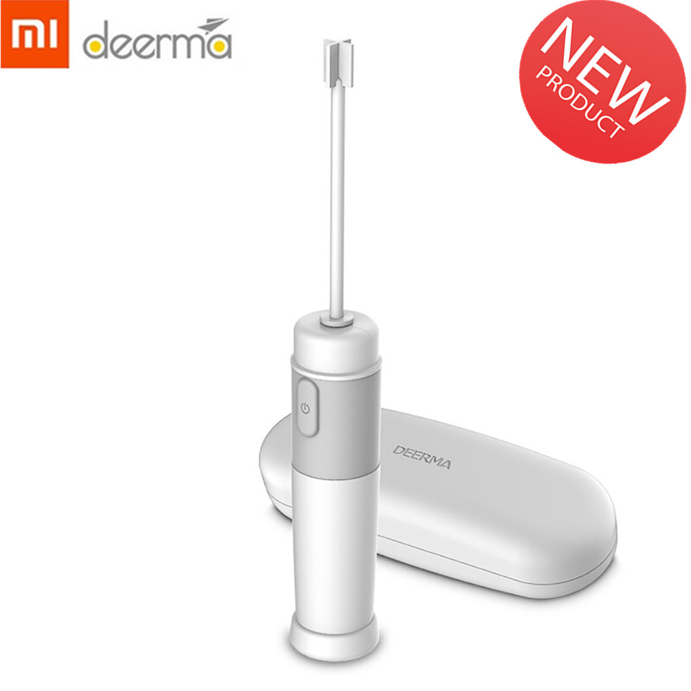 XIAOMI Deerma-JB01 Milk Drink Coffee Whisk Mixer Electric Egg Beater Frother Foamer Stirrer Practical Kitchen Cooking Tool New