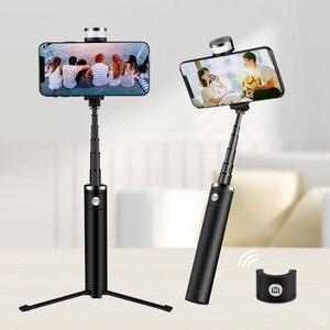Image 5 - Soporte portátil para teléfono móvil trípode cámara con Bluetooth inalámbrico auto temporizador varilla de artefacto