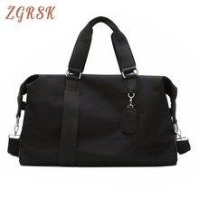 Fashion Casual Big Woman Travel Luggage Tote Bag Nylon Women Duffle For Men Unisex Single Shoulder Strap Weekend