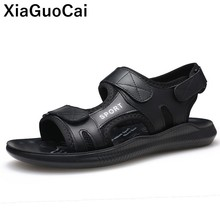 Genuine Leather Men Sandals Slippers Two Uses Summer Male Beach Shoes Fashion Casual Footwear Classic Non-slip Soft High Quality