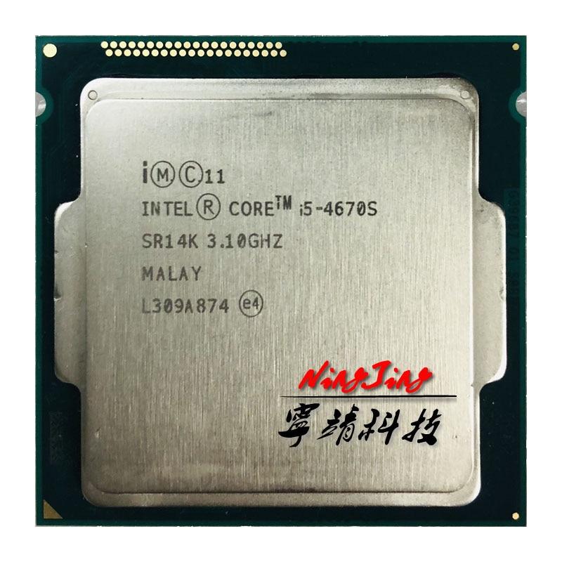 Intel Core i5 4670S i5 4670S 3 1 GHz Quad Core CPU Processor 6M 65W LGA