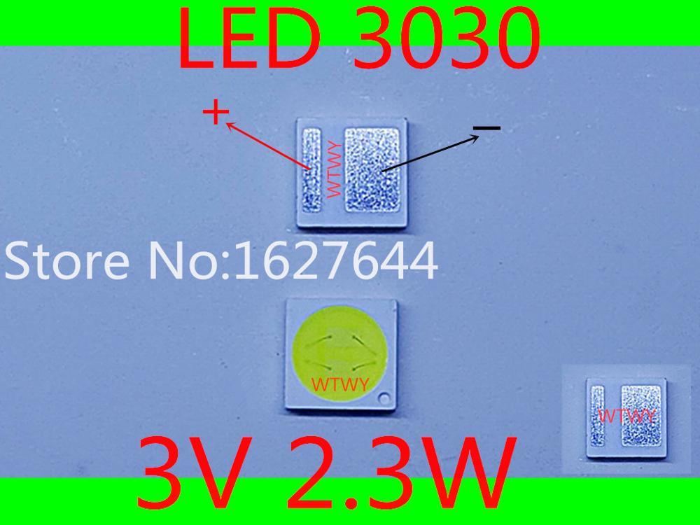 100 шт. оригинальный и новый светодиодный светильник jufei 3030 светодиодный подсветка холодный белый подсветка 2,3 Вт 3 в 3030 для светодиодный ЖК Телевизор подсветка приложения-in Легкие бусы from Лампы и освещение