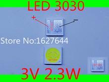 100 piezas Original y nueva para JUFEI LED 3030 LED luz blanco frío de luz 2,3 W 3 V 3030 para LED de retroiluminación LCD TV aplicación