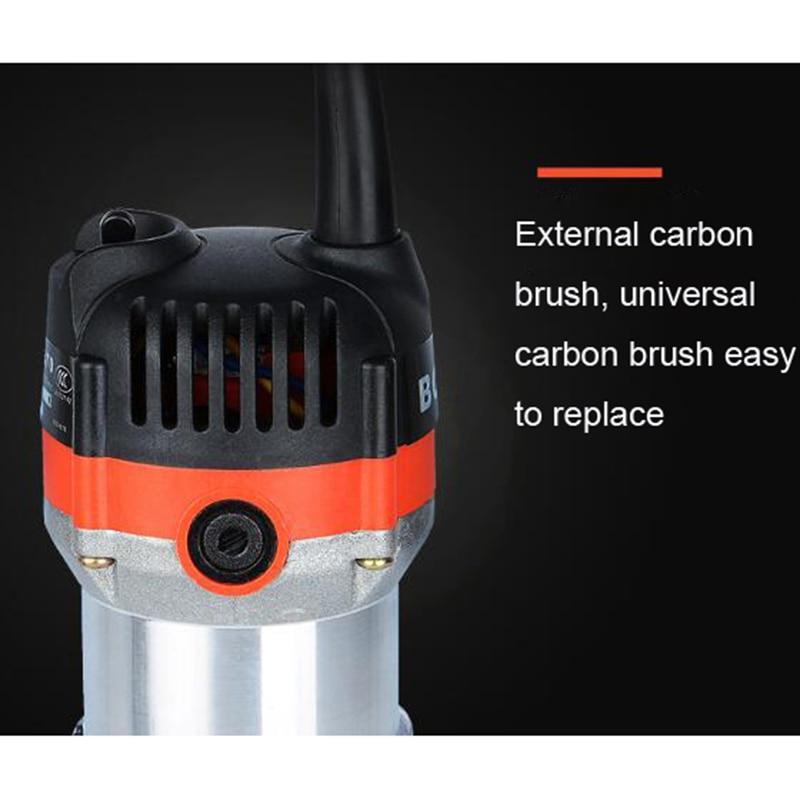 כלים יד 220V 35000Rpm 530W חשמלי יד גוזם עץ Edge 1/4 כלים נתב אינץ ווד נתב גוזם עבור כלי קידוח נגרות / EU (4)