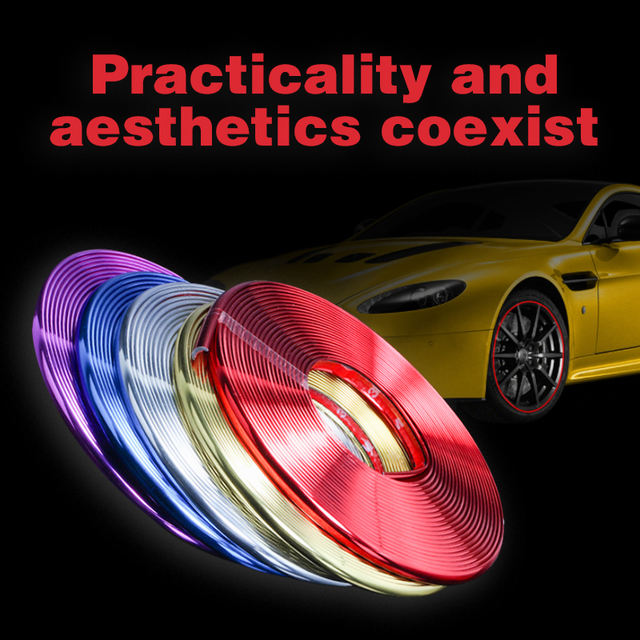 8M Car Stickers Rim Protector Wheel Edge Rim Protectors Wheel Protector Tire Protection Care Covers Drop Ship Car Styling